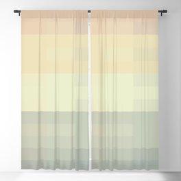 Calm pastel morning Blackout Curtain