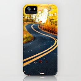road in autumn iPhone Case