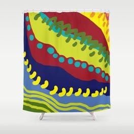 Colour Avalanche Shower Curtain