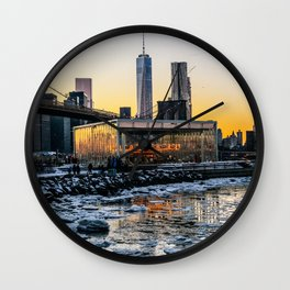Winter in NY Wall Clock