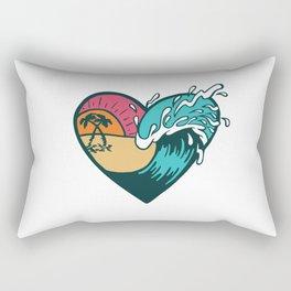 Wave Heart Rectangular Pillow