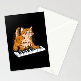 Cute Piano Cat Stationery Cards