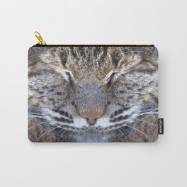 Watercolor Bobcat Mask 02 Carry-All Pouch