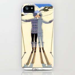 George Barbier - hiver (art deco print) iPhone Case