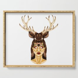 STAG HEADRESS Serving Tray