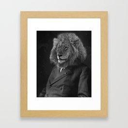 Leo The Lion Man Framed Art Print