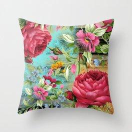 Vintage flowers #11 Throw Pillow