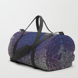 lace weave in deep blues Duffle Bag
