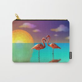 Flamingo Sunset Carry-All Pouch