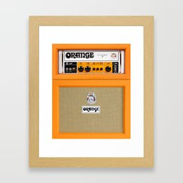 Bright Orange color amplifier amp Framed Art Print