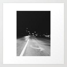 Crazy Nights & Street Lights  Art Print