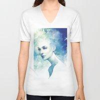 flight V-neck T-shirts featuring Flight by Anna Dittmann