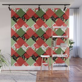 Patchwork, Christmas Wall Mural