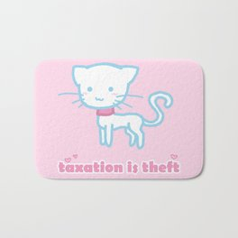 Taxation Is Theft Kitty Bath Mat