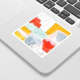 abstract painting XVI Sticker