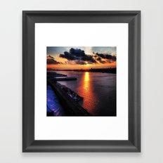 sunset in new york city 2013 Framed Art Print
