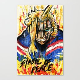 The Symbol of Peace (All Might) Canvas Print