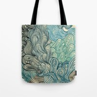 friday Tote Bags featuring Friday Afternoon by Marcelo Romero