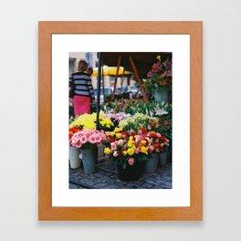 Blooms in Buckets Framed Art Print