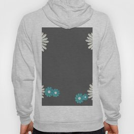 Gray,blue flowers Hoody