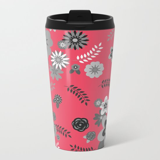 FLORAL PATTERN 2 Metal Travel Mug