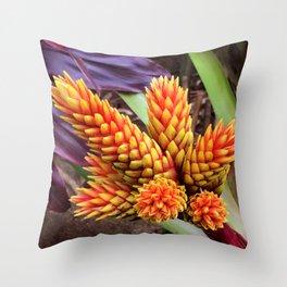 Hawaiian Tropical Elegant Jungle Flower Throw Pillow