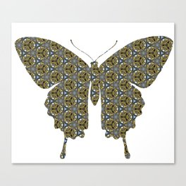 Swallowtails Butterfly  patterned version2 Canvas Print