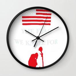 We Kneel For The Fallen Wall Clock