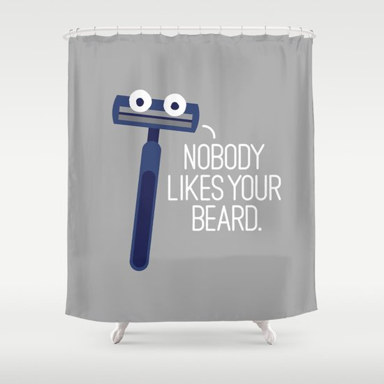 Let's Face It Shower Curtain