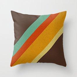 Retro 70s Color Palette Throw Pillow