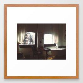 baths and desks in new york city.  Framed Art Print
