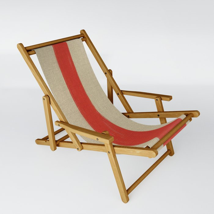 Wooden Leg Sling Chair By