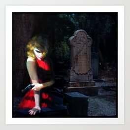 She Likes the Dead to Stay Dead Art Print