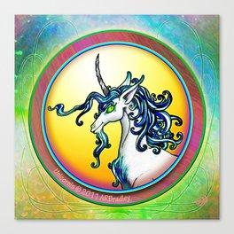 Unicorn Portrait Canvas Print