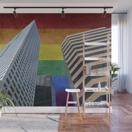 Houston LGBTQ Pride Skyline Wall Mural