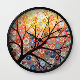 Abstract Art Landscape Original Painting ... Reaching For the Light Wall Clock