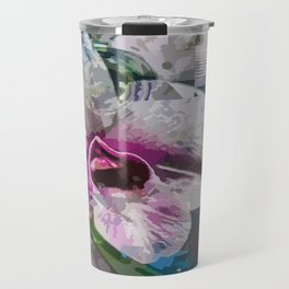 White and pink orchid Travel Mug