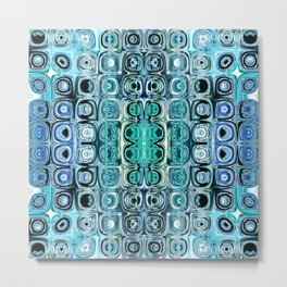 Turquoise And Teal Reflections Metal Print