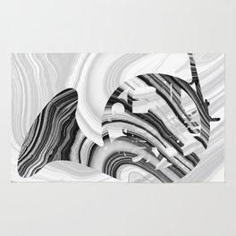 Marbled Music Art - French Horn - Sharon Cummings Rug