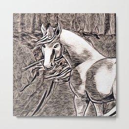 Rustic Style - Unicorn 2 Metal Print