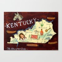 kentucky Canvas Prints featuring Kentucky by Christiane Engel