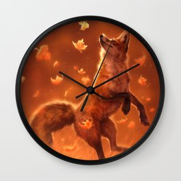 Jump Into Fall Wall Clock