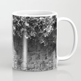 Old Italian wall overgrown with roses Coffee Mug