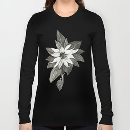 Florida Flower with Green Background Long Sleeve T-shirt