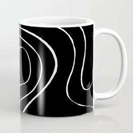 Ebb and Flow 2 - Black on White Coffee Mug