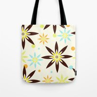 70s Tote Bags featuring 70s flowers by Keyweegirlie
