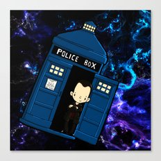 Tardis in space Doctor Who 9 Canvas Print