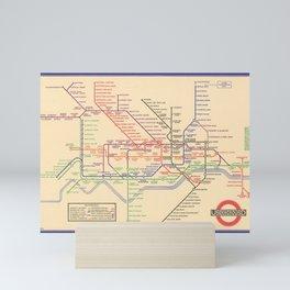 Vintage London Underground Map Mini Art Print
