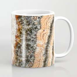 Agate Crystal II // Red Gray Black Yellow Orange Marbled Diamond Luxury Gemstone Coffee Mug