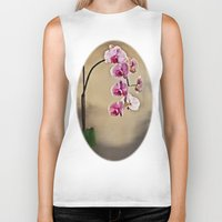 orchid Biker Tanks featuring Orchid by Misspeden